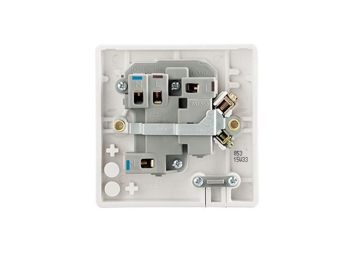 BG Nexus White Moulded 13A Switched Fused Connection Unit, Flex Outlet, Neon Indicator - 1