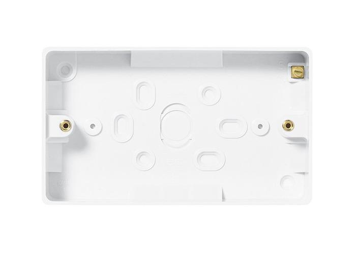 BG Nexus White Moulded 2 Gang Rectangular Surface Box, 32mm - 1