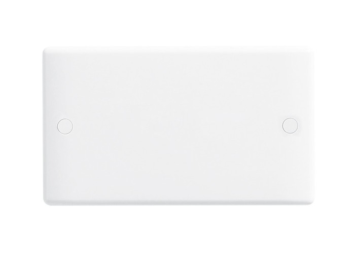 BG Nexus White Moulded Double Socket Blanking Plate - 1