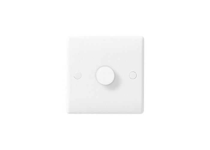 BG Nexus White Moulded Single Dimmer Switch, Push On/Off 400W  - 1