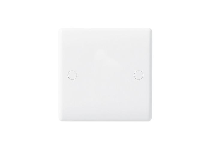 BG Nexus White Moulded Single Socket Blanking Plate - 1