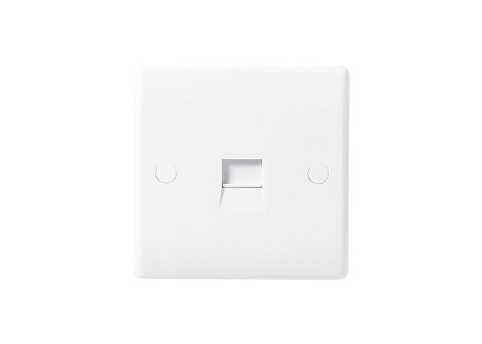 BG Nexus White Moulded Single Telephone Socket, Master, IDC Type - 1