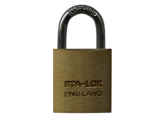 B&G STA-LOCK C Series Brass Open Shackle Padlock - Steel Shackle - 25mm KD - C100 - 1