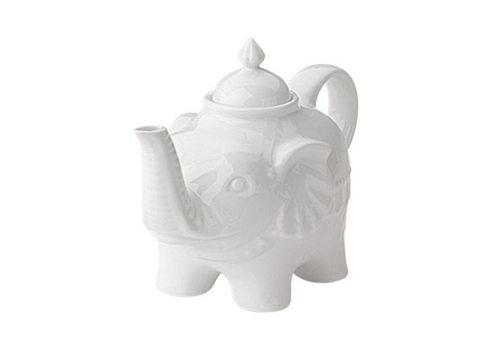 BIA Elephant Teapot in White - 1