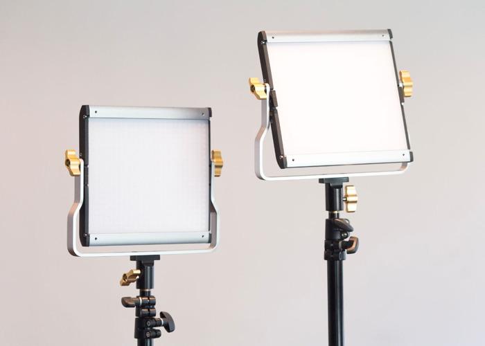 Bi-Colour 1x1 LED Continuous Panel Light Kit x2 - 1