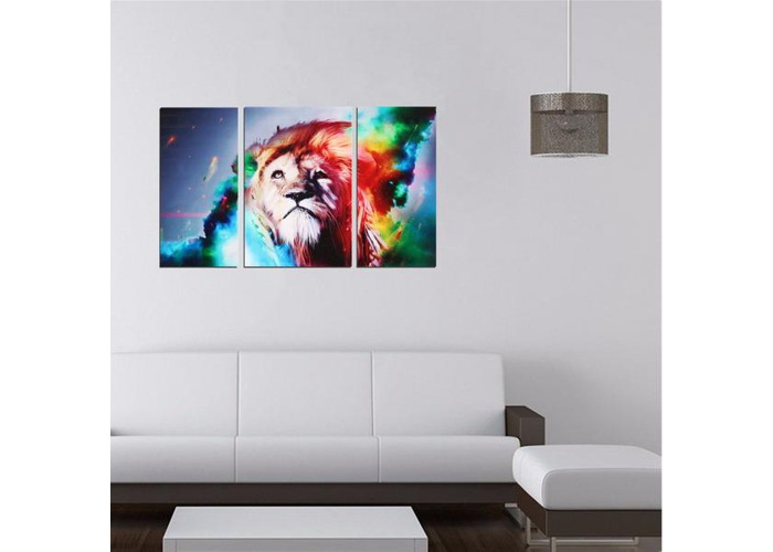 Big Colorful Lion Frameless Canvas Prints Modern Wall Art Picture Home Decor - 1