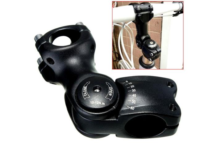 BIKIGHT 1pc Adjustable Angle Stem Riser 60° Handlebar for Mountain Bike Bicycle - 1