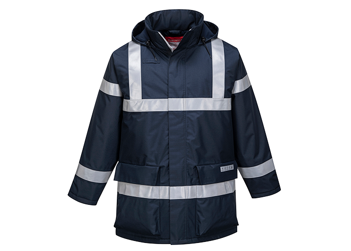 Bizflame FR Antistatic Jacket  Navy  Small  R - 1