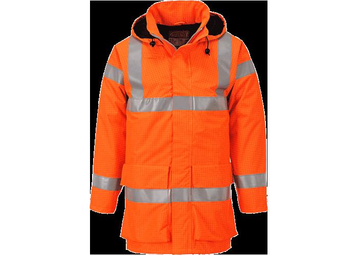 Bizflame FR Rain Jacket  Orange  XXL  R - 1
