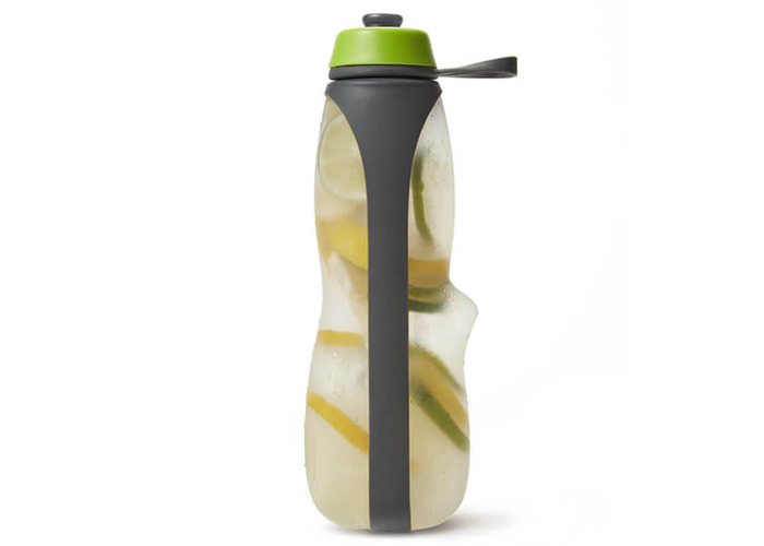 Black + Blum Eau Good Duo Grey / Lime Sports Charcoal Filtered Water Bottle - 2