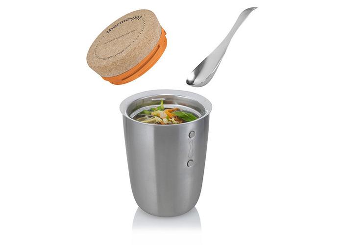 Black + Blum Thermo Lunch Pot & Spoon, Silver - 2