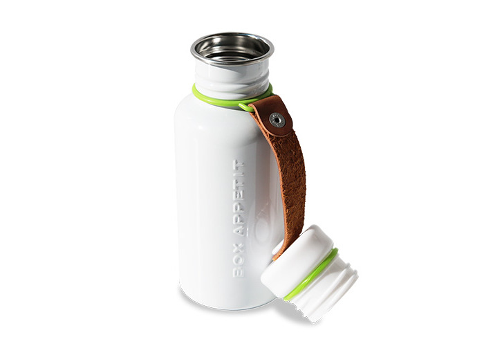 Black + Blum Water Bottle White/Lime - 2