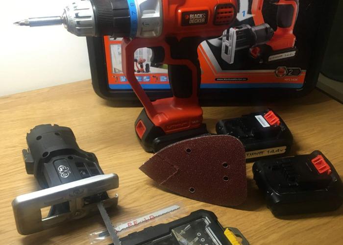 Black & Decker 14.4V Multi-tool Drill/Driver Jigsaw Sander - 1