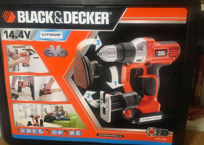 Black & Decker 14.4V Multi-tool Drill/Driver Jigsaw Sander - 2