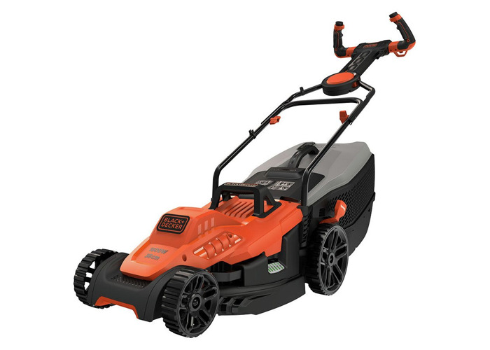 Black + Decker 38cm Corded Lawnmower with EasySteer - 1600W - 1