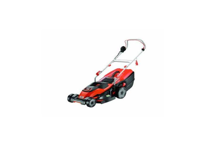Black + Decker 42cm Lawnmower with EasySteer - 1