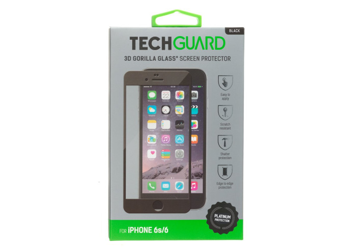 Black 3D Gorilla Glass Screen Protector for iPhone 6 / 6S - 2