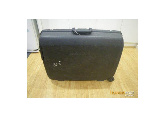 Black Hard Plastic Durable suitcase - 1