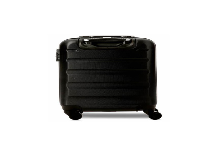 Black Large shell suitcase - 1