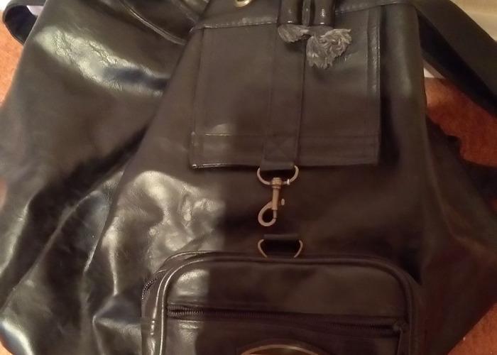 black leather shoulder bag - Daniel Ray - 1