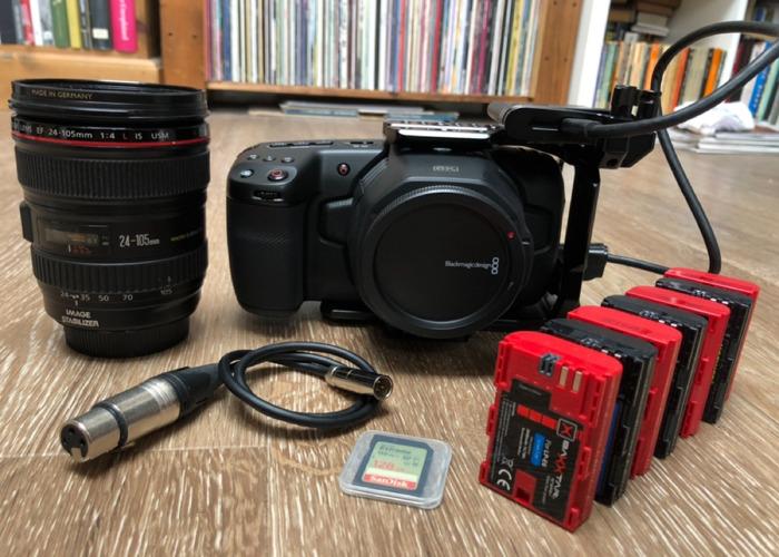 Black Magic BMPCC 6k Pocket Cinema Camera + lens + 1tb SSD - 1