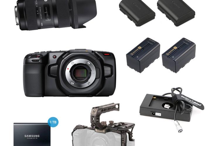 Black Magic Pocket 4k - Kit With lens (18 - 35mm) - 1