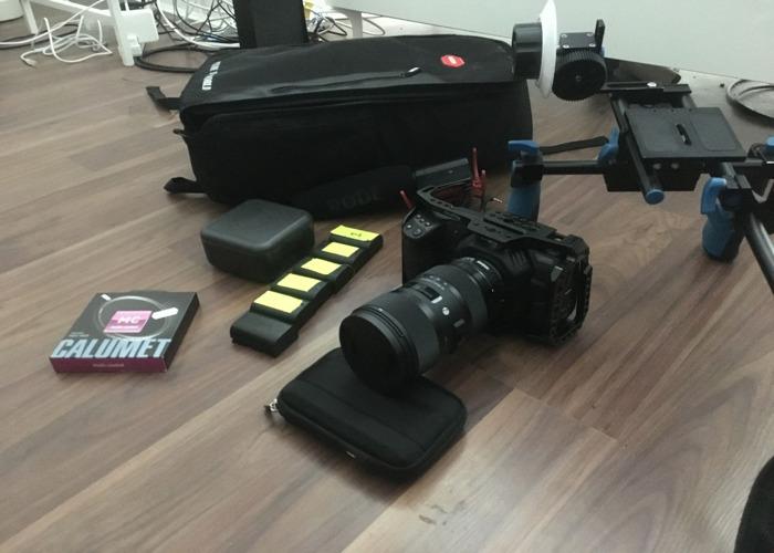 Black Magic Pocket Cinema Camera 4k + Sigma 18-35mm Art Lens F1.4 - 1