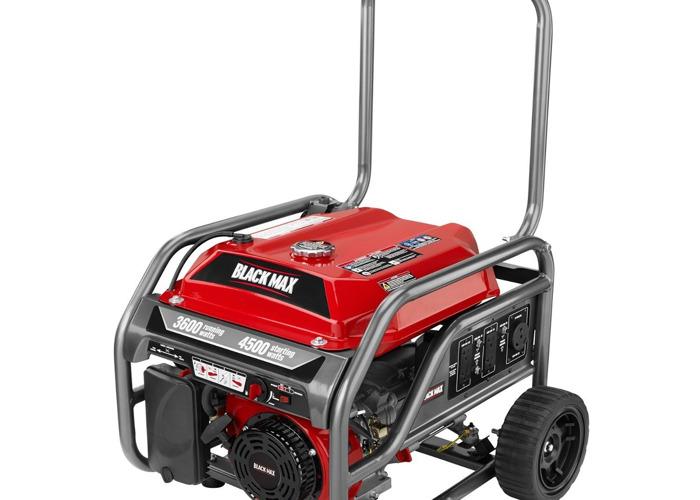 Black Max 3,600 / 4,500 Watt Portable Gas Generator - 1