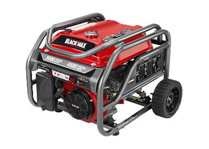 Black Max 3,600 / 4,500 Watt Portable Gas Generator - 2
