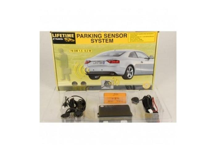 Black Reversing Rear Parking Sensor System With Alarm - 1