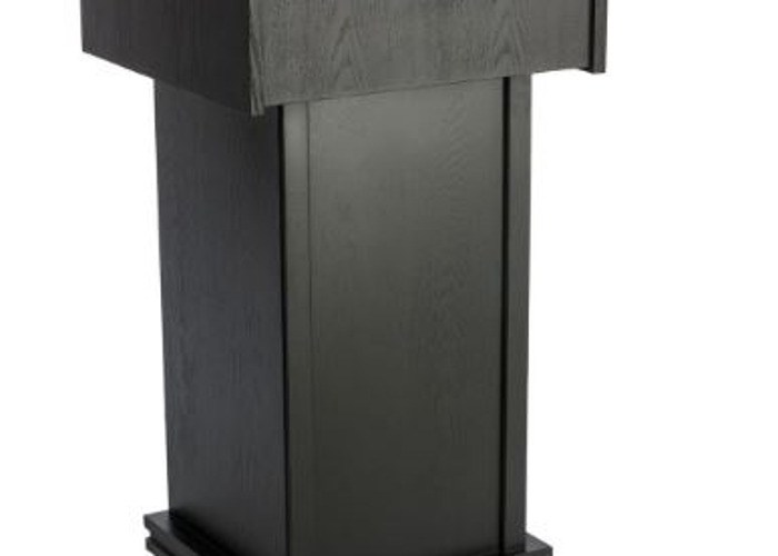 Black Wooden Podium for Presentations - 1