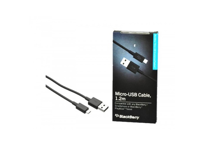 BlackBerry 1.2 metre Micro USB Data Cable - Black - 2
