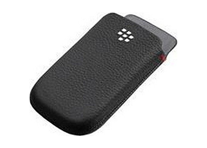 BlackBerry 9800 Torch Leather Pocket Pouch - Black (AAC-32838-201) - 1