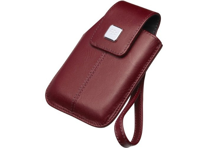 BlackBerry Leather Tote for BlackBerry Storm 9500 Series Handsets (Dark Red) - 1