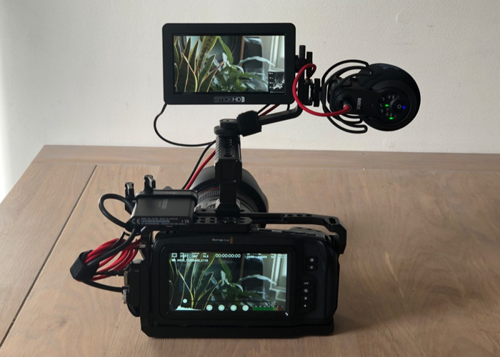 Blackmagic BMPCC 4K Cine cam Mini Rig + SSD - 1