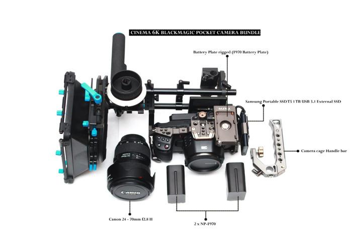 Blackmagic 6k Design Pocket Cinema Camera Bundle - 1