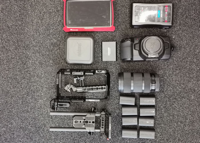 Blackmagic Pocket 4k (BMPCC 4k) + Metabones XL 0.71x + 18-35 Sigma Canon fit & all Small rig accessories - 2