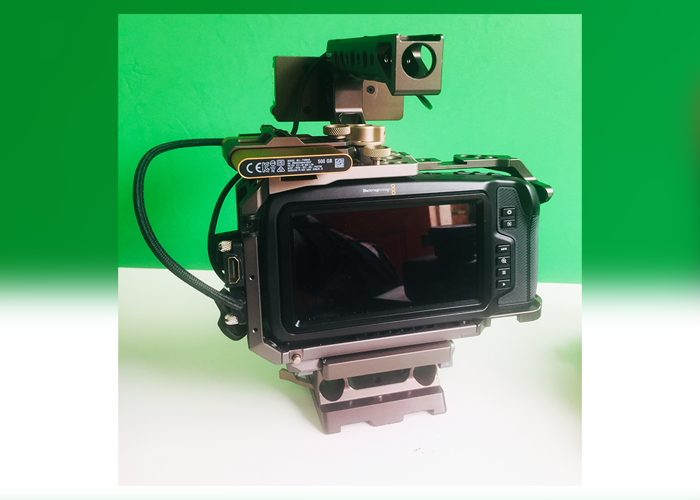 Blackmagic Pocket Cinema 4k Camera Body + 0.71x EF Metabones - 2