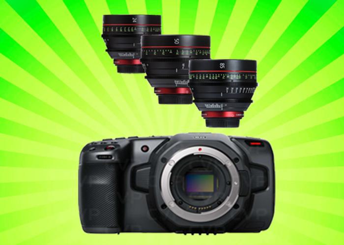 Blackmagic Pocket Cinema 6k + Canon CN-E Lens Set - 1