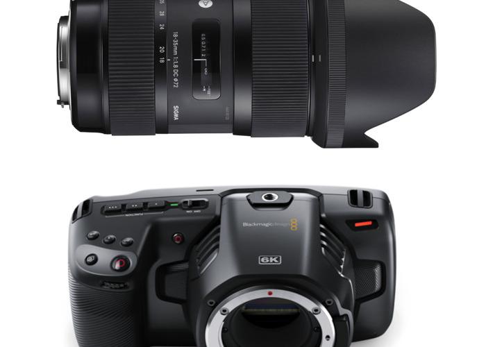 Blackmagic Pocket Cinema Camera 6K with 18-35mm lens - 1