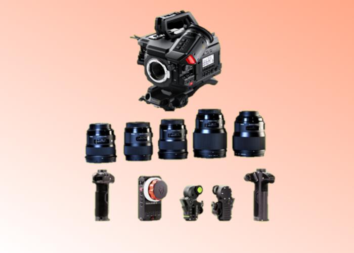 Blackmagic URSA Mini 4.6k Pro EF + 5x Sigma Art Prime Lenses ( 24mm / 35mm / 50mm / 85mm / 135mm)+ Tilta Wireless Follow Focus + Shoulder Mount Kit + 760tb Storage + 4 Batteries Full Film Bundle - 1