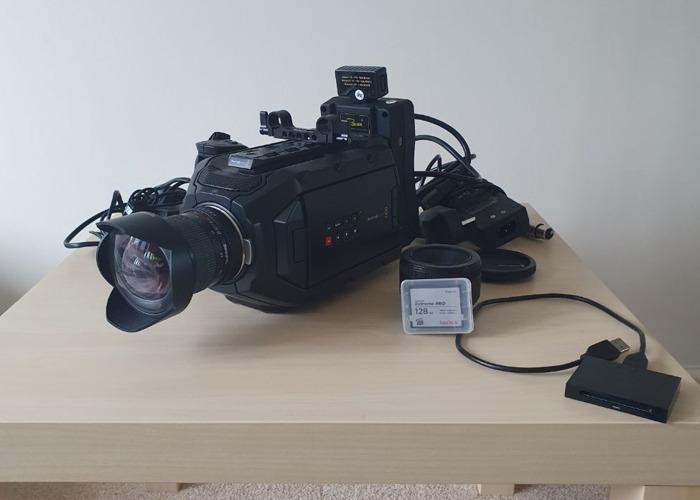 BlackMagic Ursa Mini 4K EF Shooting Kit - Samyang 14mm+Canon 50mm+128GB CFast Card+V Lock Battery - 2