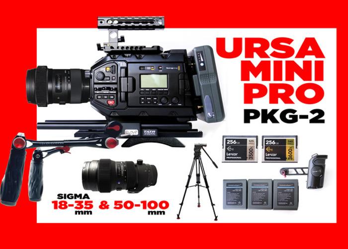 Rent Blackmagic URSA Mini Pro 4 6K + 2 SIGMA LENSES in Los