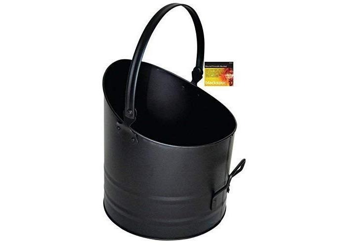 blackspur BB-FS316 Round Fireside Bucket, Black - 1
