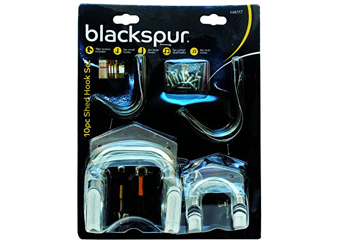 Blackspur Shed Hook Set - 10 Pieces BB-HA117 - 1
