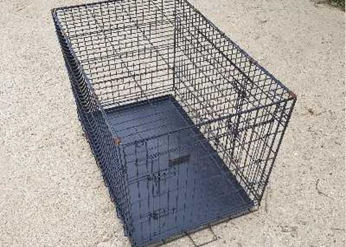 black metal dog crate - 1