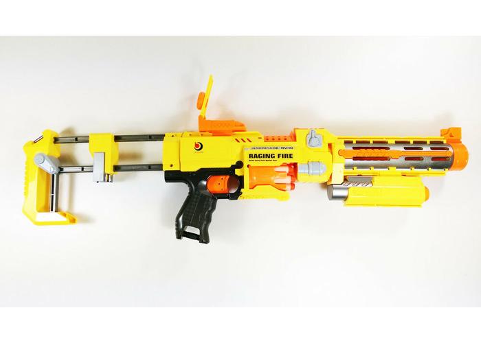 Buy Blazing Storm Rapid Fire Soft Bullet Kid Toy Dart Gun LED Laser