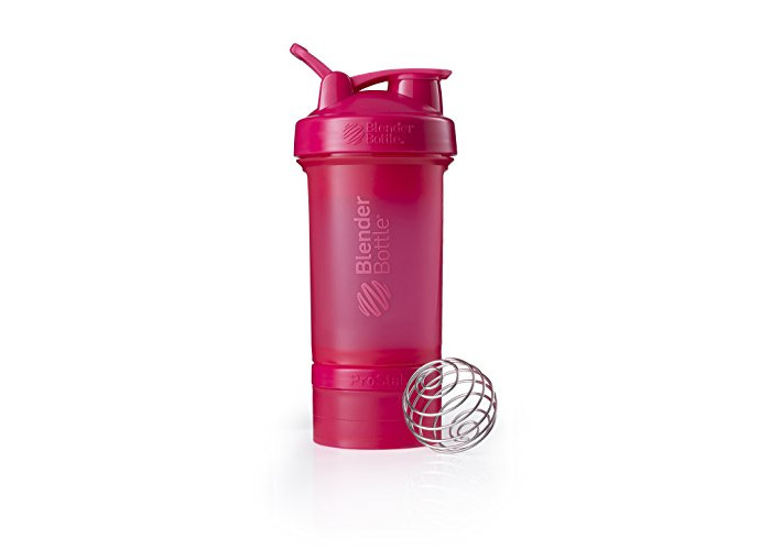 Blender Bottle ProStak - 22oz Protein Shaker Cup with storage / Diet Shaker / Water Bottle incl 150cc and 100cc Jar Fashion Pink - 1