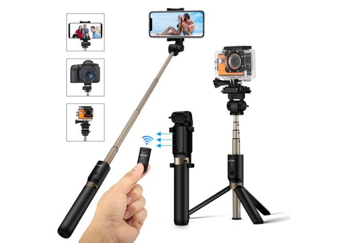 BlitzWolf BW-BS3 Versatile 3 in 1 bluetooth Tripod Selfie Sticks for iphone 8 8 Plus iphone X - 2