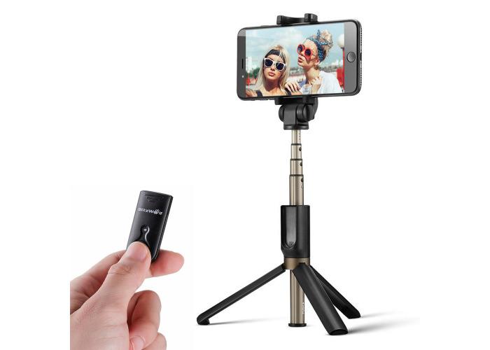 BlitzWolf BW-BS3 Versatile 3 in 1 bluetooth Tripod Selfie Sticks for iphone 8 8 Plus iphone X - 1